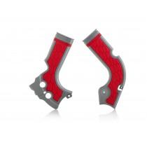 Copritelaio Acerbis X-Grip Honda CRF - Argento/Rosso