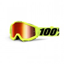Maschera 100% Accuri - Fluo Yellow / Red Mirror + Clear
