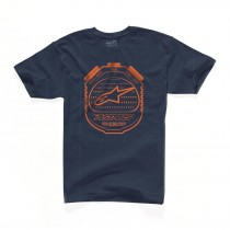 T-shirt Alpinestars Counter Tee - Navy / Orange
