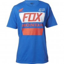 T-shirt Fox Honda Distressed Basic Tee Blue