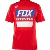T-shirt Fox Honda Distressed Basic Tee Red