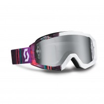 Maschera Scott Hustle pixel white / purple / silver chrome works