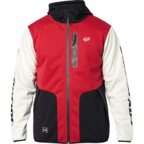 Felpa Fox Barricade Softshell Hoodie Black Red