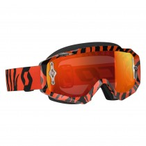 Maschera Scott Hustle black fluo orange / orange chrome works