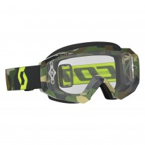 Maschera Scott Hustle Grey Fluo Yellow / Clear