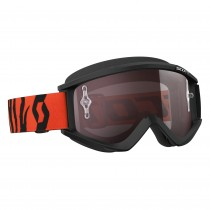 Maschera Scott Recoil Xi Black Fluo Orange / Silver Chrome