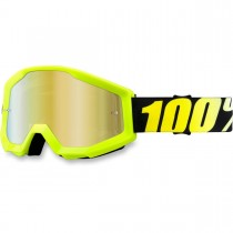 Maschera 100% Strata - Neon Yellow / Mirror Gold