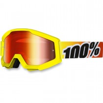Maschera 100% Strata - Sunny Days Yellow / Mirror Red