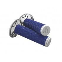 Coppia Manopole Scott Mellow Mx Blu Bianco