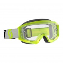 Maschera Scott Hustle X Mx yellow / grey / clear