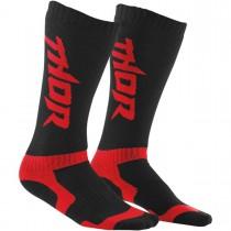 Coppia Calze Thor Mx Socks - Nero Rosso
