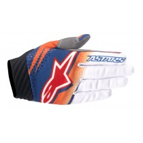 Guanti Cross Alpinestars Techstar Venom - Orange / White / Navy