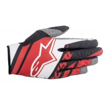 Guanti Cross Alpinestars Racer Supermatic - Red / White / Black
