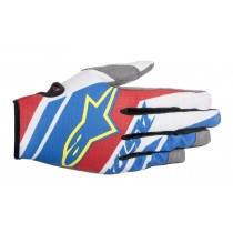 Guanti Cross Alpinestars Racer Supermatic - Blue / Red / White