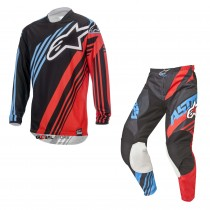 Completo Alpinestars Racer Supermatic Black Red Blue