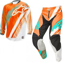 Completo Alpinestars Racer Supermatic Orange White Teal