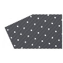 2 Fogli Adesivi Crystall Effetto Carbonio Con Foratura
