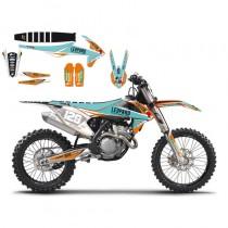 Kit Adesivi + Copertina Team Marchetti KTM SX-SXF 16-18 EXC