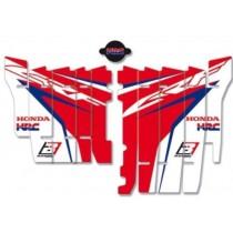 Kit Adesivi Feritoie Radiatore HRC Honda CRF 450 2017=>2018