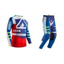 Completo Maglia + Pantalone Acerbis Avenger Mx Rosso Blu