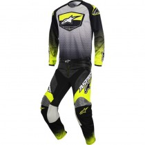 Completo Cross Alpinestars Racer Supermatic - Anthracite / Yellow Fluo / Gray