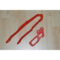KIT Slitta + Cruna Catena Rosso CR 125-250 2000=>2004 / CRF 250 2004 / CRF 450 2002=>2004