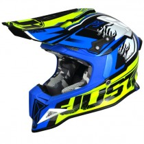 Casco JUST1 J12 Dominator Neon Yellow Blu