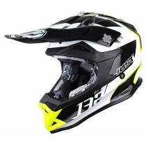 Casco JUST1 J32 Pro Kick White-Yellow-Black