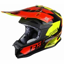 Casco JUST1 J32 Pro Kick Black-Red -Yellow
