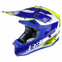 Casco JUST1 J32 Pro Kick White-Blue-Yellow