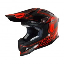 Casco JUST1 J12 Carbon Fluo Red