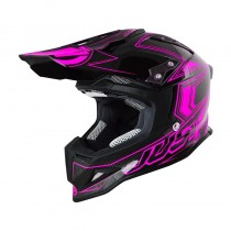 Casco JUST1 J12 Carbon Fluo Pink
