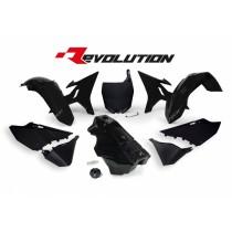 Kit Plastiche Revolution Rtech YZ 125-250 2002=>2016 Nero
