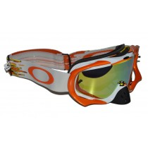 Maschera Oakley Crowbar MX Glitch Orange / 24K + Clear oo7025-25 Goggles
