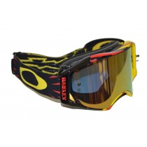 Oakley Airbrake MX High Voltage Gold Iridium oo7046-10 Goggles Brillen