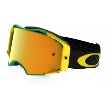 Maschera Oakley Airbrake Mx Shockwave Green / 24K Iridium
