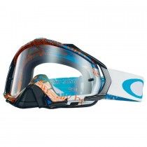 Maschera Oakley Mayhem Pro Mx Tagline Blue Orange / Clear