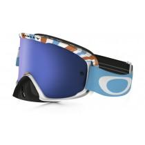 Maschera Oakley O2 Mx - Orange Blue / Ice Iridium OO7068-05