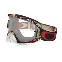 Maschera Oakley O2 Mx - Mosh Pit Red Yellow OO7068-17