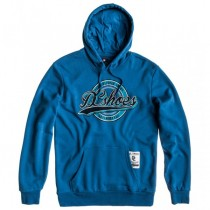 Felpa Uomo Con Cappuccio DC Shoes Ride Ocean Blue